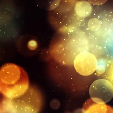 bule luminoase aurii pe fundal aramiu